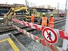 Na olomouckém hlavním nádraží jsou nyní v plném proudu stavební práce v rámci...