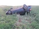 Pondělní nehoda dvou osobních vozů na Prostějovsku skončila kotrmelci a autem v...