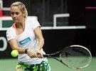 Klára Koukalová se v Ostravě připravuje na semifinále Fed Cupu.