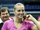 Petra Kvitová přijela do Ostravy na semifinále Fed Cupu v dobré náladě.