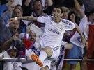 Angel Di Maria z Realu Madrid slaví svůj gól.