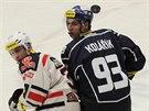 Momentka ze zápasu Kladno - Chomutov