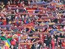 "Fanou�ci Sparty p�ed startem 281. derby pra�sk�ch ""S"""