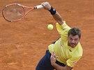 Švýcarský tenista Stanislas Wawrinka během semifinále proti Davidu Ferrerovi na...