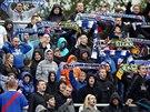 PODPORA. Fanou�ci Ban�ku Ostrava si vychutnali demolici Znojma (4:0).