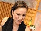 Producent Milan Cimfe, Lenka Dusilov� a jedna z autorek Baromantiky Be�ta...