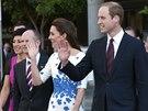 Vévodkyně Kate a princ William na vojenské základně v Austrálii.