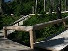 Samotný pramen Vltavy je přístupný po povalovém chodníku a studánka plná mincí