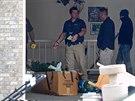 Policie prohledává dům, ve kterém Megan Huntsmanová dříve žila (Utah, 13. dubna...