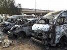 Výbuch na autobusovém nádraží na předměstí Ajuby, při němž zahynuly desítky...