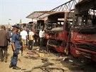 Experti na výbušniny ohledávají autobusové nádraží na předměstí Ajuby, kde...