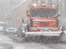 V půlce dubna na Jablonecku začalo sněžit (15. dubna 2014).