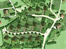 Plánek pasivní vesničky