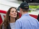 Princ William a jeho man�elka Kate (11. dubna 2014)