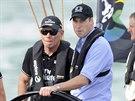 Princ William během závodu jacht (Auckland, 11. dubna 2014)