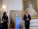 Princ William a Kate odhalili nový obraz královny Alžběty II. (Wellington, 10....