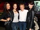 Ivan Král a vítězky České Miss 2013 Monika Leová, Lucie Kovandová a Gabriela