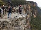 Princ William a jeho manželka Kate na návštěvě  pohoří Modré hory, které leží...
