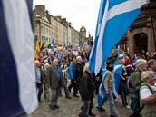 Shromáždnění na podporu skotské nezávislosti v Edinburghu (září 2013)