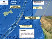 MAPA: Pátrání po černých skříňkách a troskách MH370