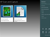 Aplikace HP Scan and Capture slou�� k po�izov�n� sken� dokument� a fotek v...