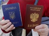 Ukrajinsk� a rusk� pas.