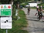 Na Dunajské cyklostezce u Schlögenu