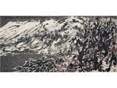 Malba Snowy Mountain, kterou vytvo�il ��nsk� um�lec Cchuej �u-�uo (10. 4. 2014)