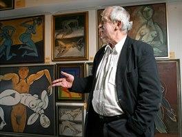 Malíř Jiří Načeradský na snímku z února 2009