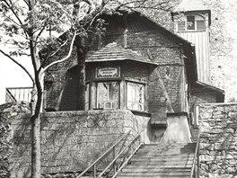 Jaroňkova útulna ve 30. letech minulého století.