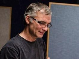 Ivan Trojan při natáčení audioknihy