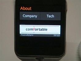 Rychlé čtení Spritz na hodinkách Samsung Gear nabízí zajímavou možnost, jak...