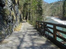 Na Tauernské cyklostezce v oblasti Pinzgau.