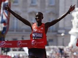 Wilson Kipsang coby vítěz Londýnského maratónu.