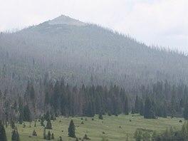 Vrchol Luzný - z estetického hlediska naprosto dokonalá hora