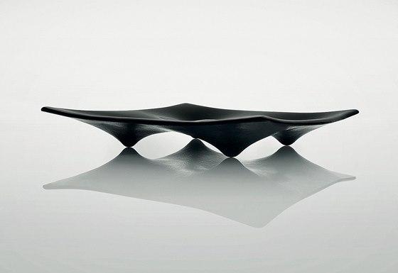Mísa 4Nipples inspirovaná tvarem ňader. Vyrobeno technikou lehaného skla. 2008.