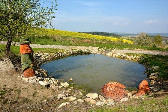 Dětský rybníček s vodníkem na Ptačí stezce