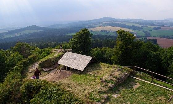 Výhled z hradu Kumburk směrem k Táboru