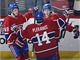 Hokejist� Montrealu Brendan Gallagher (vpravo), Tom� Plekanec a Michael