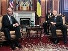 Americký viceprezident Joe Biden se v Kyjevě setkal s úřadujícím prezidentem...