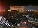 Následky tornáda ve městě Mayflower v Arkansasu (27. dubna 2014)