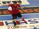 Semifinále futsalové ligy EraPack Chrudim (červená) - Benago Praha.