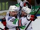 Radost se přelévala z týmu na tým v tuhle chvíli byl nahoře Magnitogorsk.