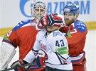 PROVOKATÉR. Český útočník Jan Kovář z Magnitogorsku ve finále KHL proti Lvu