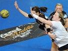 Momentka z interligového utkání žen Most - Poruba.