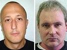 Loni uprchl ze švýcarského vězení Růžový panter Milan Poparic z Bosny (vlevo).