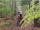 Po kratší rovince následuje strmý výšvih směr Stará Hrada