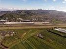 Letiště Tenerife Norte těsně po startu a pravé otočce