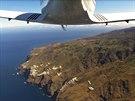 Pobřeží ostrova Gomez zadní kamerou