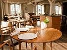 Interiér kodaňské restaurace Noma